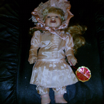 Kim Kunstgewerbe Germany Kim Puppe porcelain doll 12 inch approx @SOLD@